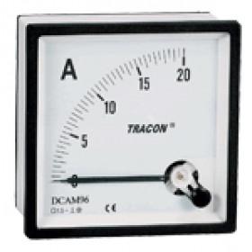 Analogni ampermeter za neposredno merjenje enosmernega toka, 72×72mm, 20mA DC