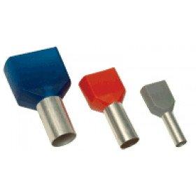 Votlica-dvojček 2x1,5mm2, L=8mm, črna