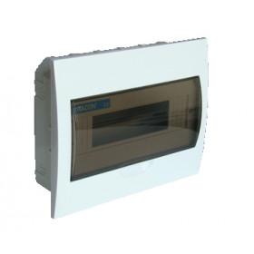 Omarica podometna 1 vrsta/12 modul, vrata sive barve IP42