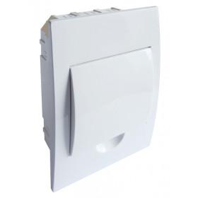 Omarica podometna 1 vrsta/6 modul, bela vrata, IP42