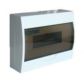 Omarica nadometna 1 vrsta/12 modul siva vrata IP42