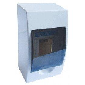 Omarica nadometna 1 vrsta/4 modul, siva vrata IP42