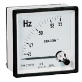 Analogni merilnik frekvence, 96×96mm, 230V / 45-65Hz