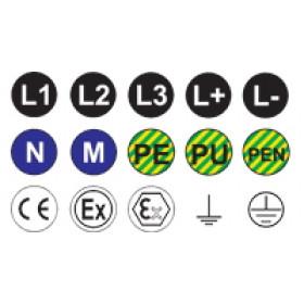 Samolepilna etiketa, d=20 mm, (L1)