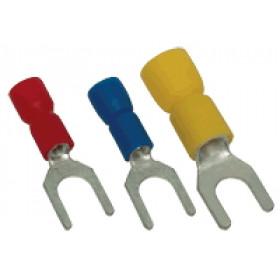 Viličasti kabelski čevelj 2,5 mm2, d1=2,3 mm, d2=6,6 mm, moder