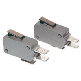Pozicijsko stikalo, mikro, z vzmetno palico 10(3)A / 250V AC, 15mm, 6,3x0,8 mm, IP00