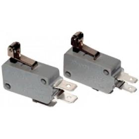 Pozicijsko stikalo, mikro, z ročajem in koleščkom 10(3)A / 250V AC, 15mm, 6,3x0,8 mm, IP00