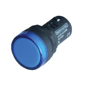 LED signalna svetilka, 22 mm, 12V AC/DC, modra