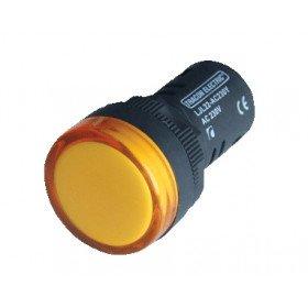 LED signalna svetilka, 22 mm, 12V AC/DC, rumena