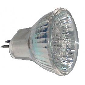 LED žarnica, MR16, 12V 1,2 W 18LED, zelena, G5.5