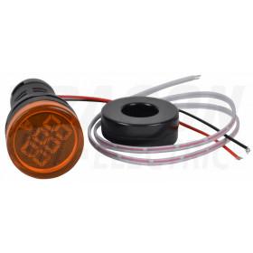 Ampermeter z LED signalno svetilko, rumeni 1-100A, d=22mm