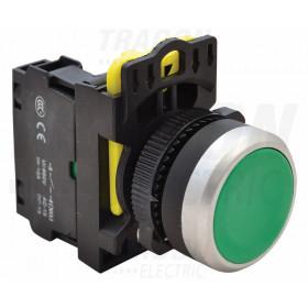 Navadno tipkalo, zeleno 1×NO, 5A/230V AC-15, IP65