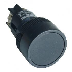 Plastična tipka, črna, 1V, 22mm, 400V/0,4A, IP42