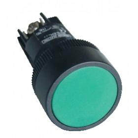Plastično stikalo, zeleno, 1V, 22mm, 400V/0,4A, IP42