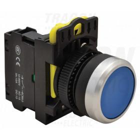 Navadno pritisno stikalo, modro 1×NO, 5A/230V AC-15, IP65