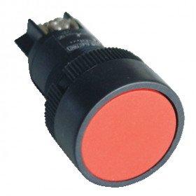 Plastično stikalo, rdeče, 1V, 22mm, 400V/0,4A, IP42