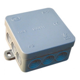 Prožna razvodnica na nadometno montažo 75x75 mm, IP54
