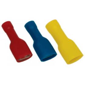 V celoti izoliran natični kontakt 1,5mm2, 4,8x0,5 mm, rdeč