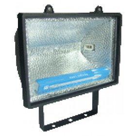 Reflektor halogenski, R7s, 500 W, 189 mm, črn, IP 54