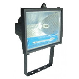 Reflektor halogenski, R7s, 150 W, 78 mm, črn, IP 54