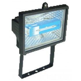 Reflektor halogenski, R7s, 500 W, 118 mm, črn, IP 54