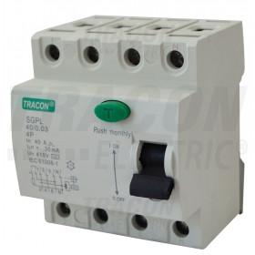 Tokovno zaščitno stikalo, 4 polni 40A, 30mA, 4,5 kA, AC, 4P