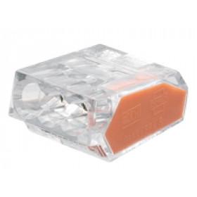 Hitra sponka brez vijaka 3x1-2,5 mm2, prozorna