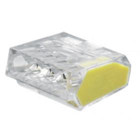 Hitra sponka brez vijaka 4x1-2,5 mm2, prozorna