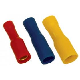 Okrogli ženski kontakt 6 mm2, d1=3,5 mm, d2=5 mm, rumen