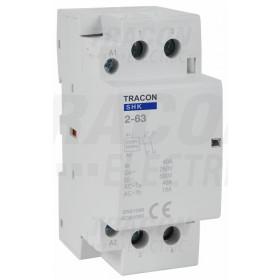 Kontaktor 230V AC 50Hz, 2P, 2×NO, AC1/AC7a, 63A
