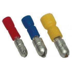 Okrogli moški kontakt 6 mm2, d1=3,6 mm, d2=5 mm, rumen