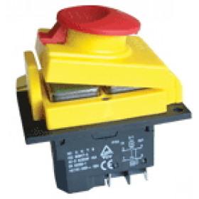 Varnostno vgradno stikalo, podnapetostno, 2 polno, gobasta glava, 15A/250V AC, IP55