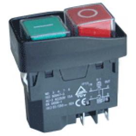 Varnostno vgradno stikalo, podnapetostno, 2 polno, črni okvir, 15A/250V AC, IP55