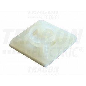Vijačna pritrdilna ploščica za spenjanje kablov, 19x19 mm, bela