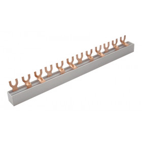 Zbiralka 1-fazna, viličasta, 12modul, 215mm, max. 63 A