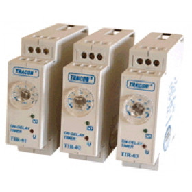 Časovni rele-enofunkcijski, s pritezno zakasnitvijo 230V AC/24V AC/DC, 0,1-3min, 5A/250V AC