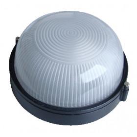 Ladijska svetilka, brez mreže, okrogla, kovinska, 230V, E27, max. 60W, IP44, črna