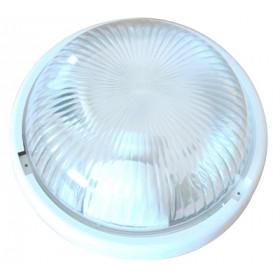 Ladijska svetilka, brez mreže, okrogla, steklo, 230V, E27, max. 100W, IP44, bela