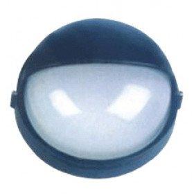 Ladijska svetilka, brez mreže, okrogla, pokrita, 230V, E27, max. 60W, IP44, črna