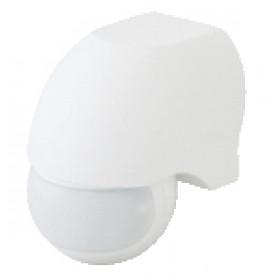 Senzor gibanja, infra, bel 230 VAC, 180°, 300 W, max. 12 m, 10 s-7 min, 3-2000lux, IP44
