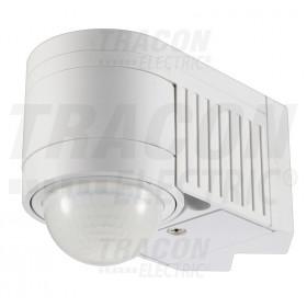 Senzor gibanja, kotna montaža, ploščati, beli 230V, 360°, 1-12 m, 10 s-15 min, 3-2000lux, IP44