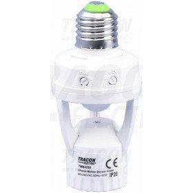 Adapter za senzor gibanja, za okov tipa E27 230 VAC, 120°, 60 W, max. 9 m, 10 s-5 min, 3-2000 lux
