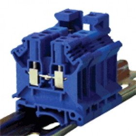 Vrstna sponka VS, ničelna, 0,2-6 mm2, 57 A, modra