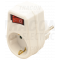 Priključni adapter s stikalom, beli 250 VAC 16 A 1×SCHUKO, max. 3680 W