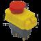Varnostno pritisno stikalo z relejem, gobasto, z zapahom 5PIN, 230 VAC, 12A/AC1, IP54, 6,3×0,8