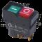 Varnostno pritisno stikalo z relejem, klik montaža, črni okvir 5PIN, 230 VAC, 12A/AC1, IP54, 6,3×0,8
