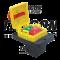 Varnostno pritisno stikalo z relejem, gobasto, z zapahom 6PIN, 400 VAC, 8A/AC1, IP54, 6,3×0,8