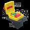 Varnostno pritisno stikalo z relejem, gobasto, z zapahom 7PIN, 400 VAC, 8A/AC1, IP54, 6,3×0,8