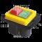 Varnostno pritisno stikalo z relejem 7PIN, 400 VAC, 8A/AC1, IP54, 6,3×0,8